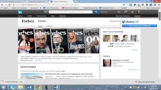 LinkedIn: Sharing articles on LinkedIn Homepage