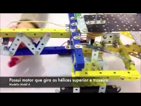 Helicoptero c/ motor, Kit Robótica de Montagem Educacional + de 120 pçs c/ 2 hélices
