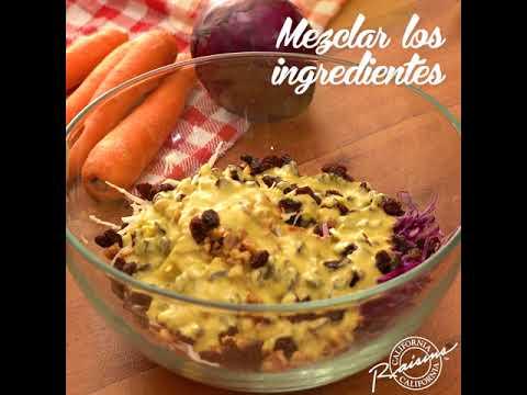 Thumbnail del video receta de Ensalada con pasitas