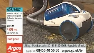 Hoover Rush Pets Bagless Cylinder Vacuum Cleaner BeingDemonstrated on Argos TV