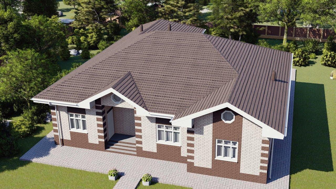 Проект дома 268 м2 с бассейном и парильной