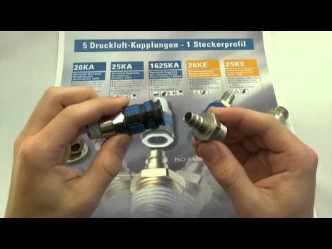 5 Druckluft-Kupplungen - 1 Steckerprofil