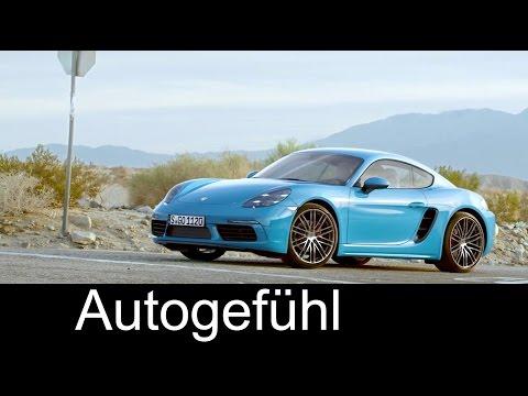 New Porsche 718 Cayman first look Miami blue preview neu - Autogefühl