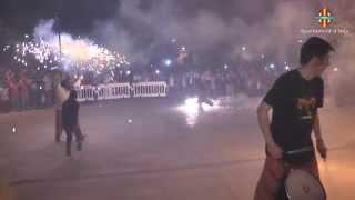 preview picture of video 'Correfoc i focs d'artifici per concloure les festes patronals d'Inca'