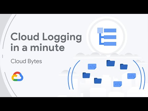 Title slide from video presentation reading Cloud Logging in a minute from the Cloud Bytes series