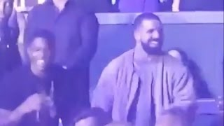 Drake vibing out at Jlo's vegas concert