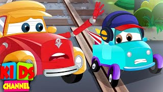 A Level Crossing Pickle - Car Cartoon Videos for Children from Kids Channel