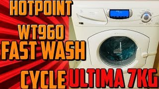 Hotpoint Ultima WT960 7kg full wash cycle