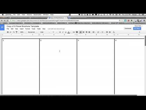 Video: How to Make a Brochure Using Google Docs | eHow