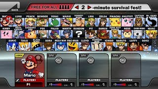Super Smash Flash 2 - All Characters & Alternate Costumes/Colors