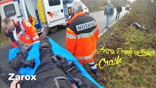 Angry People vs Biker + Horror Crash    2018