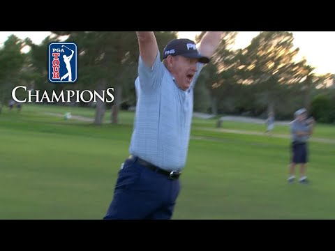 Jeff Maggert with an epic HOLE-OUT to win the Schwab Cup Championship