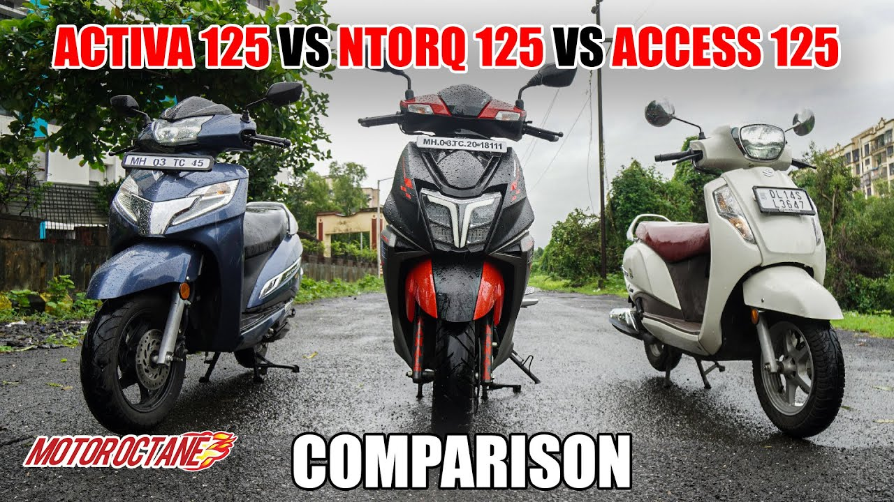 Motoroctane Youtube Video - 2020 TVS Ntorq 125 vs Honda Activa 125 vs Suzuki Access 125 | Hindi | MotorOctane