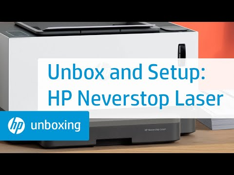 How to Unbox and Set Up the HP Neverstop Laser 1000, MFP 1200, and HP Laser NS 1020, MFP 1005 Printer Series