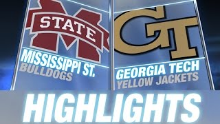 Mississippi State vs Georgia Tech | 2014 ACC Football Highlights