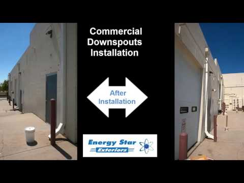 Commercial Downspouts Installation by Energy Star Exteriors Arvada CO