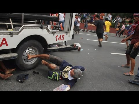 Police Run Over Protesting National Minorities At US Embassy