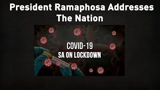 President Cyril Ramaphosa addresses the nation on the measures currently being undertaken to contain the coronavirus pandemic. The address by the President follows a meeting of the National Command Council on Sunday, 29 March 2020, which assessed the efficacy of the national lockdown which came into effect on Thursday 26 March 2020.   For more news, visit sabcnews.com and also #SABCNews on Social Media.