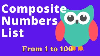 Composite Numbers List From 1 to 100 For Kids