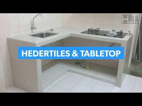 Tonton Buat Table Top 10kaki Panjang Bentuk L Shape Meja Dapur Countertop Di Kajang Selangor You Heder Tile And