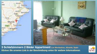 preview picture of video '3 Schlafzimmern 2 Bäder Appartment zu verkaufen in Los Montesinos, Alicante, Spain'