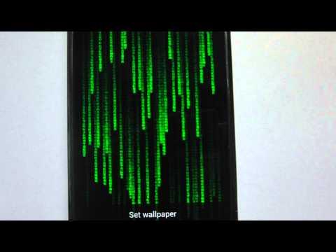 Vídeo do Matrix Live Wallpaper