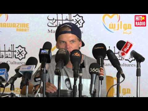 Conférence de presse avec Avicii à Mawazine 2015 sur HIT RADIO