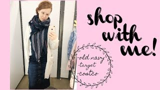 SHOP WITH ME// OLD NAVY,  TARGET, COSTCO HAUL // APOSTOLIC MOM