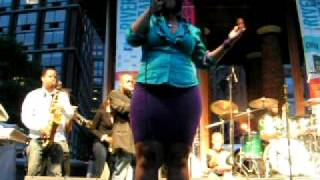 Chuck Brown, Chuck Baby, Rockefeller Park, NYC 6-17-09