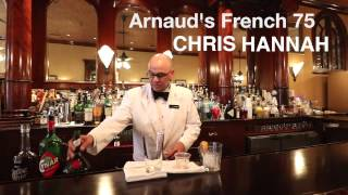 Chris Hannah of Arnaud's French 75 makes a drink