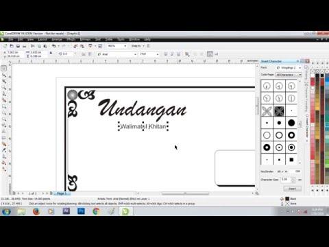 Video Cara membuat undangan walimatul khitan hvs lipat 3 di coreldraw x4