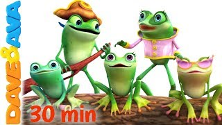 🎯  Five Little Speckled Frogs   Nursery Rhymes Collection from Dave and Ava 🎯