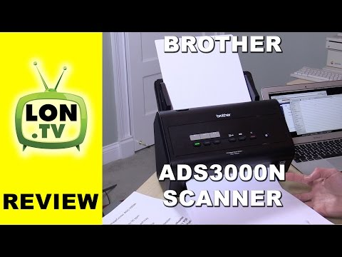 Brother ADS-3000N High Speed Document Scanner Review and how to configure network settings