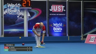 Just. 2019 World Indoor Bowls Championships: Day 6 Session 1