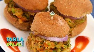 मिनी पाव भाजी बर्गर (Mini Pav Bhaji Burgers) By Tarla Dalal