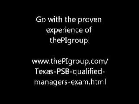 Texas PSB Qualified Manager's Exam - YouTube