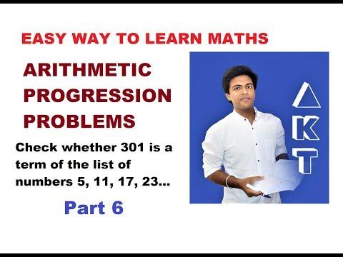 Arithmetic Progression Problems: Class 10: PART 6