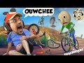 UNCLE BALDI GOT ME TWAINING WHEEWLZ!  Ouch! (FGTeeV Duddy Chunky Boy Descenders Gameplay/Skit)