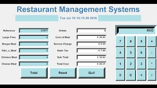 How to Create a GUI Restaurant Management Systems in Python - Tutorial 1