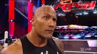 The Rock Returns to RAW 1/25/16