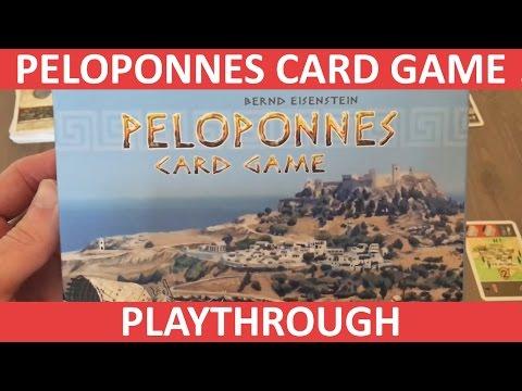 Peloponnes Card Game - Solo Playthrough