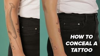 How To Hide A Tattoo With Makeup   Beauty Junkie