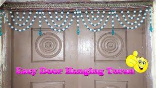How To Make Door Hanging Toran || Pearl Beaded Toran