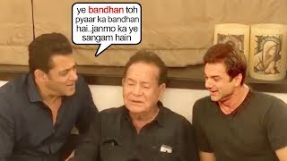See Salman Khan's EMOTIONAL Moment SING!NG for Dad Salim Khan wid Family@House GalaxyApts