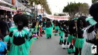 preview picture of video 'Tribu Lubumba. Carroza y Comparsa de Amics de S'Arenal. Carnaval de la Playa de Palma 2014'