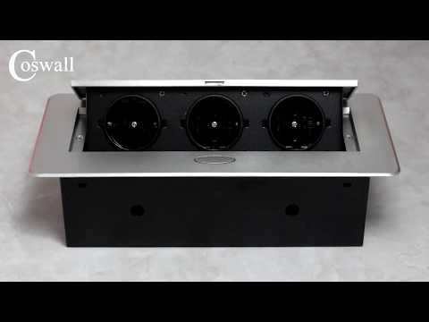 COSWALL All Aluminum Plate Table Desktop Outlet