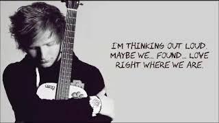 Thinking Out Loud by  Ed Sheeran (lyrics) (letra) download Karaoke