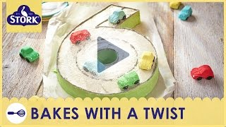 Numbers Birthday Cake Recipe Demonstration - Bake With Stork