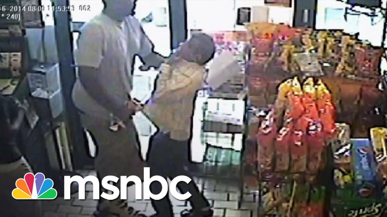 Surveillance Footage Purportedly Shows Michael Brown | msnbc thumbnail