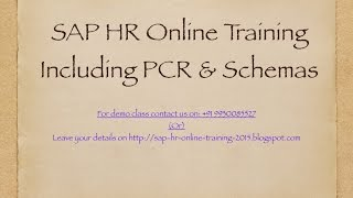 SAP HR Online Training Until payroll generation (Part 1)